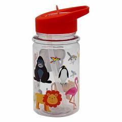 Sticla de apa cu pai- Zoo Kids
