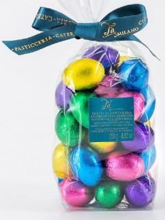 Oua din ciocolata in staniol multicolor - punga mica