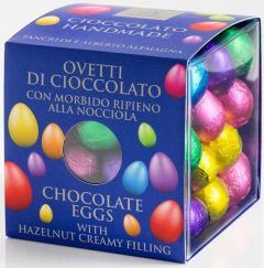 Oua din ciocolata in staniol multicolor - cutie mare