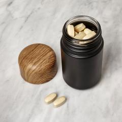 Cutie cu capac - Container with Wood Cap - Black