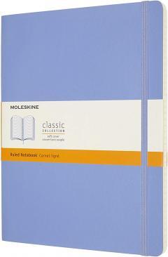 Carnet Moleskine - Hydrangea Blue Extra Large Ruled Notebook Soft