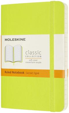 Carnet Moleskine - Lemon Green Pocket Ruled Soft