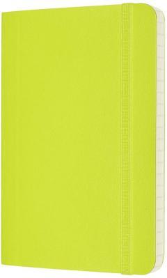 Carnet Moleskine - Lemon Green Pocket Ruled Soft