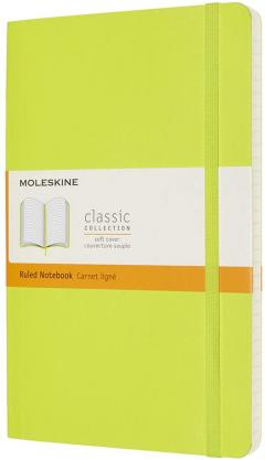 Carnet Moleskine - Lemon Green Large Ruled Notebook Soft