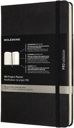 Agenda Moleskine - Pro Project Planner 12 Months Large - Black
