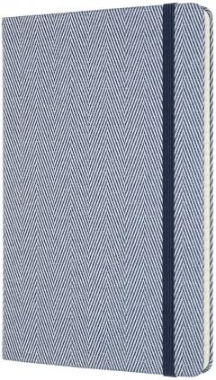 Carnet - Moleskine Blend - Large, Hard Cover, Ruled - Herringbone Blue