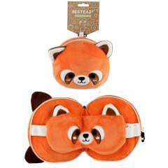 Set perna si masca pentru somn - Relaxeazzz Plush Cutiemals Red Panda