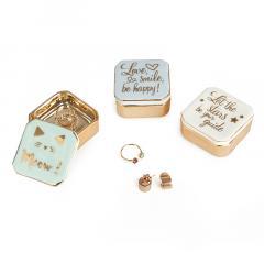 Cutie pentru bijuterii - Ring Holder - Golden Box