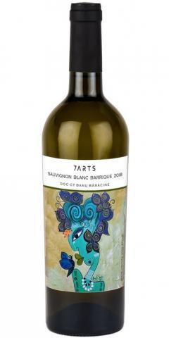 Vin alb 7 Arts - Sauvignon Blanc Barrique, sec, 2018