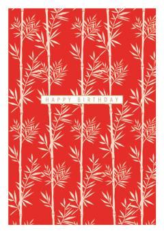 Felicitare - Happy Birthdays - Red Bamboo