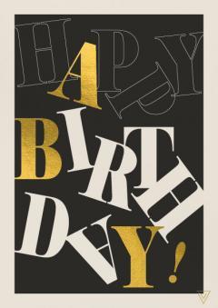 Felicitare - Happy Birthdays Letters