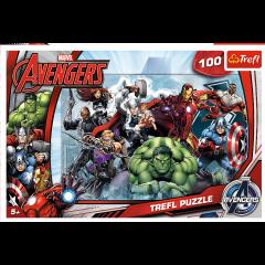 Puzzle 100 piese - Incepe atacul Marvel