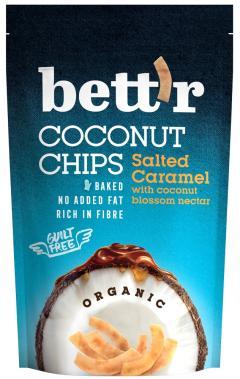 Chips de cocos si caramel sarat, Bio, 70g