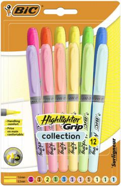 Set 12 evidentiatoare - Brite Liner Grip Pastel