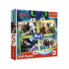 Puzzle 4in1 - Cum sa iti dresezi dragonul 3