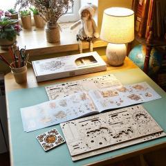 Puzzle 3D - Cutie bijuterii cu chihlimbar / The Amber Box