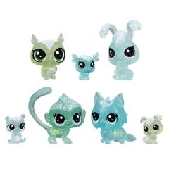 Set Littlest Pet Shop - 7 animalute Tinutul Inghetat (verde)