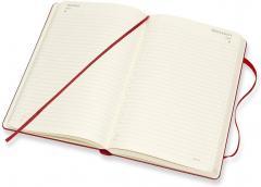 Agenda 2021 - Moleskine 12-Month Daily Notebook Planner - Scarlet Red, Hardcover Large