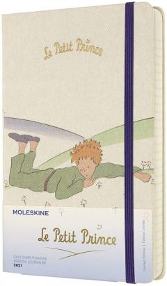 Agenda 2021 - Moleskine 12-Month Daily Notebook Planner - Le Petit Prince - Planet, Hardcover Large