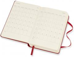 Agenda 2021 - Moleskine 12-Month Daily Notebook Planner - Scarlet Red, Hardcover Pocket
