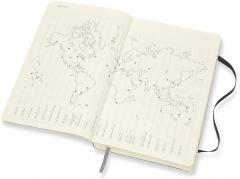 Agenda 2021 - Moleskine 12-Month Daily Notebook Planner - Black, Softcover Large