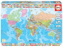 Puzzle 1500 piese - Political Worldmap