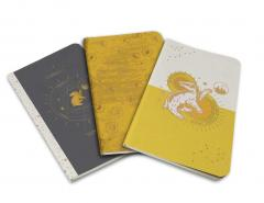 Set carnete - Harry Potter: Hufflepuff Constellation Sewn Pocket Notebook Collection