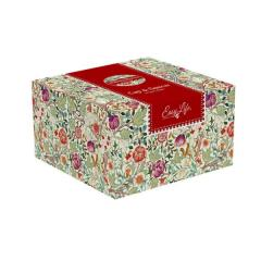 Set cana cu farfurie - William Morris In Gift Box, Red