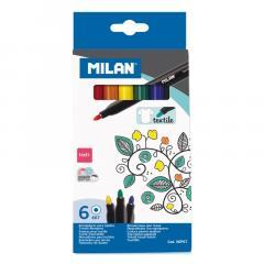 Set 6 Carioci pentru textile - Milan