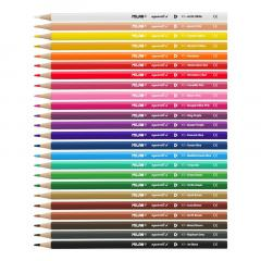 Set 24 Creioane colorate tip Acuarela - Milan