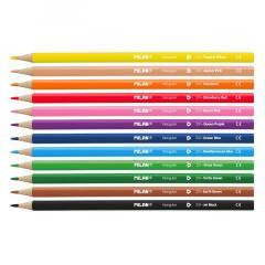 Set 12 Creioane colorate triunghiulare - Milan
