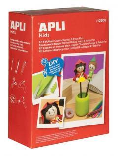Kit pentru crearea papusilor Scufita Rosie si Peter Pan