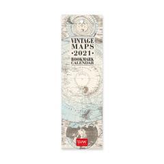 Calendar 2021 - Bookmark - Travel, 5.5x18 cm