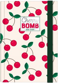 Agenda 2021 - Small Daily Planner 12 Months - Cherry Bomb