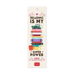Calendar 2021 - Bookmark - Book Lover`s, 5.5x18 cm