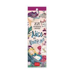 Calendar 2021 - Bookmark - Alice in Wonderland, 5.5x18 cm