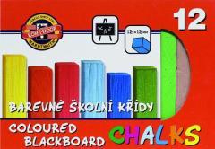 Set creta scolara, pt. tabla, 12 culori