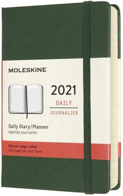 Agenda 2021 - 12-Month Daily - Pocket, Hard Cover - Myrtle Green