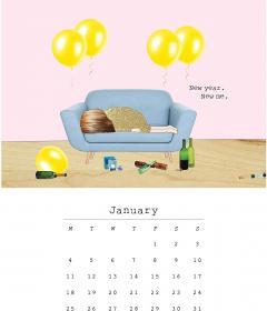 Calendar 2021 - Desk Easel - Rosie Made a Thing