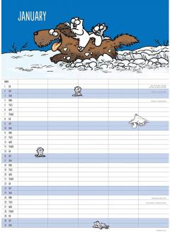 Calendar 2021 - Reminder Stickers - Simon's Cat
