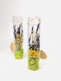 Tub sticla flori prezervate