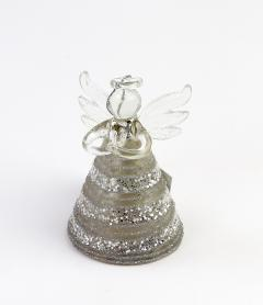 Decoratiune Craciun - Glass Angel, glitter