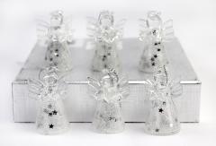 Set decoratiuni Craciun - Glass Angels, 6 pcs