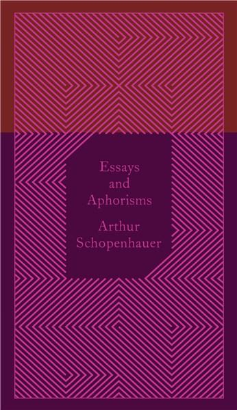 Essays and aphorisms