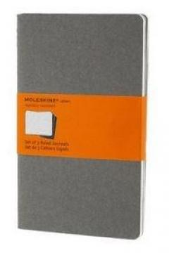 Moleskine Soft Grey Ruled Cahier Large Journal - Set of 3