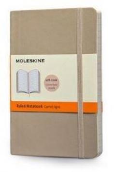 Moleskine Soft Cover Khaki Beige Pocket Ruled Notebook