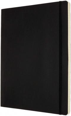 Carnet - XXL, Ruled, Soft Cover - Black