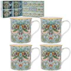 Set 4 cani - Strawberry Thief - Teal