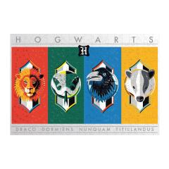 Puzzle 500 piese - Harry Potter House Crests